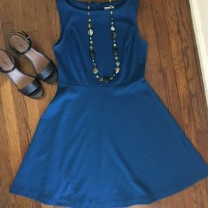 Blue fit and flare dress from Target